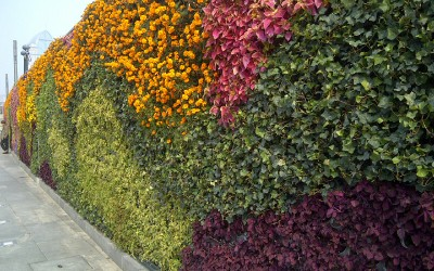 Jardín Vertical en el Bund de Shanghai